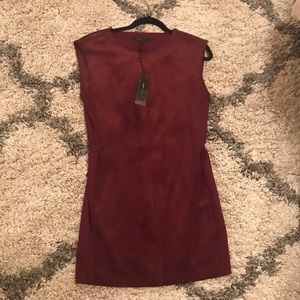 BCBGMaxAzria Burgundy Suede Dress Sz. Small